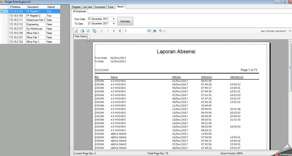 Aplikasi Absensi Karyawan Dengan Finger Print VB